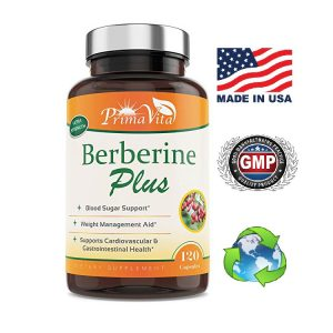 Berberine Plus, 1200 mg, beneficios contra la diabetes, 120caps